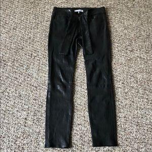 ✨NEW FRAME leather Tie Waist Skinny Pants size 27✨